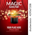 magic show poster design... | Shutterstock .eps vector #429567208