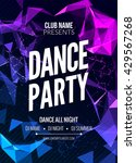modern club music party poster... | Shutterstock .eps vector #429567268