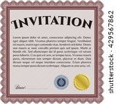 vintage invitation. with... | Shutterstock .eps vector #429567862