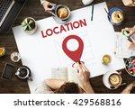 location direction navigation... | Shutterstock . vector #429568816