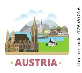 austria country badge fridge... | Shutterstock .eps vector #429569056