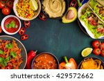 mixed mexican food background.... | Shutterstock . vector #429572662