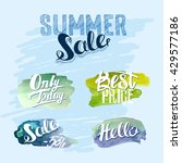 set of watercolor sale and... | Shutterstock .eps vector #429577186