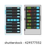 computer server icon vector... | Shutterstock .eps vector #429577552