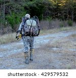bow hunter wearing camouflage ... | Shutterstock . vector #429579532