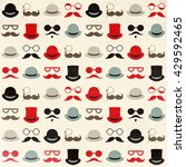 seamless retro pattern with... | Shutterstock . vector #429592465