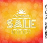 summer sale banner with bokeh ... | Shutterstock .eps vector #429593896