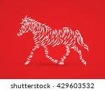 horse designed using brush... | Shutterstock .eps vector #429603532