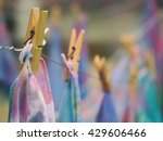 soft focus clothespin hanging... | Shutterstock . vector #429606466