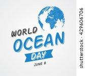 world ocean day. world water...   Shutterstock .eps vector #429606706