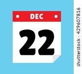 calendar icon flat december 22