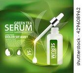 green tea serum and background... | Shutterstock .eps vector #429608962