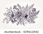 bouquet with a garden flowers... | Shutterstock .eps vector #429612442