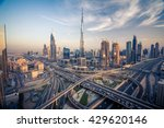 Dubai skyline with beautiful city close to it