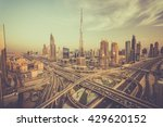 dubai skyline with beautiful... | Shutterstock . vector #429620152