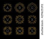 monogram initials set. line art ... | Shutterstock .eps vector #429625192