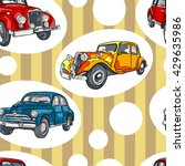 retro car. vintage. striped... | Shutterstock .eps vector #429635986
