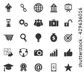 startup icons on white... | Shutterstock .eps vector #429636016