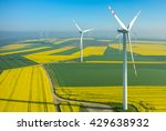 Aerial View On The Windmills On ...