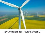 aerial view on the windmills on ... | Shutterstock . vector #429639052