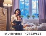 family reading bedtime. pretty...   Shutterstock . vector #429639616