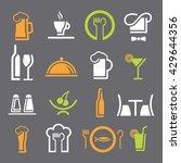restaurant icons set.cooking... | Shutterstock .eps vector #429644356