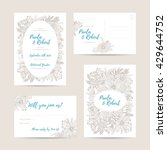 wedding invitation floral card... | Shutterstock .eps vector #429644752