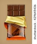 chocolate bar  vector object | Shutterstock .eps vector #429645436