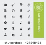 media icon set vector | Shutterstock .eps vector #429648436
