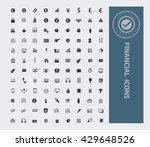 financial money icon set vector   Shutterstock .eps vector #429648526