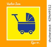 baby cart icon. eps 10. | Shutterstock .eps vector #429649312