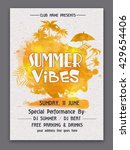 summer vibes template  summer... | Shutterstock .eps vector #429654406