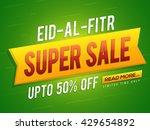 eid al fitr super sale  sale... | Shutterstock .eps vector #429654892