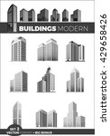 skyscraper logo building icon... | Shutterstock . vector #429658426