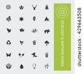 ecology and nature icon set... | Shutterstock .eps vector #429663508