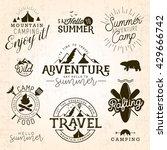 summer camp  adventure and... | Shutterstock .eps vector #429666742