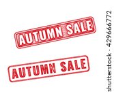 two textured stamps autumn sale.... | Shutterstock . vector #429666772