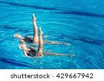 synchronized swimming pair... | Shutterstock . vector #429667942