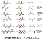 molecules of dicarboxylic acid  ... | Shutterstock .eps vector #429668212