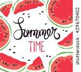 funny summer hand drawing... | Shutterstock .eps vector #429670402