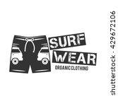 vintage surfing wear stamp... | Shutterstock .eps vector #429672106