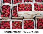 Fresh Red Strawberries Arranged ...