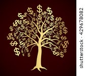 golden tree with dollar symbol  ... | Shutterstock .eps vector #429678082