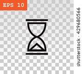 hourglass icon.  | Shutterstock .eps vector #429680566