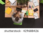 top view of young businessman... | Shutterstock . vector #429688426