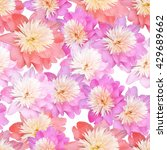 vector pattern with peony and...   Shutterstock .eps vector #429689662