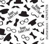 seamless black and white... | Shutterstock .eps vector #429693706