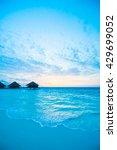 beautiful tropical beach and... | Shutterstock . vector #429699052