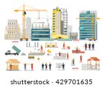 process of construction of... | Shutterstock .eps vector #429701635