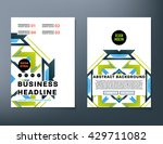 abstract background. geometric... | Shutterstock .eps vector #429711082